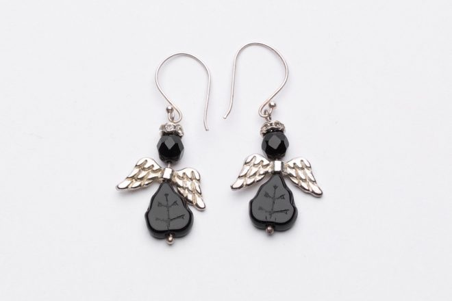 Black Angel Earrings