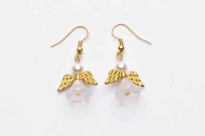 Golden Angel Earrings