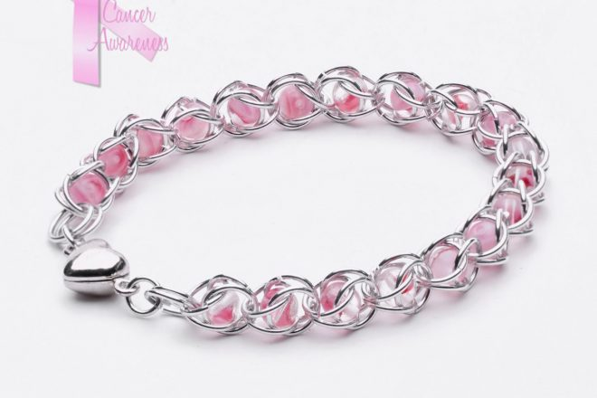 Captured Bracelet pink