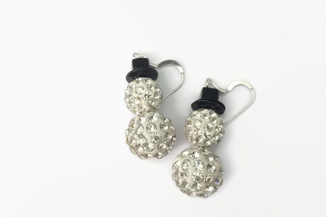 blingsnowmenearrings